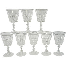 Vintage Tuilleries Villandry  Cristal D'Arques-Durand Water Goblets