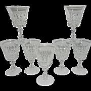 Vintage Tuilleries Villandry  Cristal D'Arques-Durand Wine Glasses