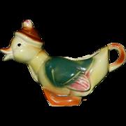 Vintage 1940's Royal Copley Spaulding Duck Creamer