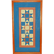 Vintage Geometric Wood Folk Art Design