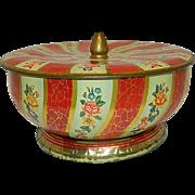 Vintage Mid-Century English Round Candy Tin