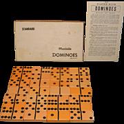 Vintage Puremco Marblelike Dominoes No. 616 Standard