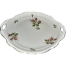 Rosenthal Moss Rose POMPADOUR Pattern Handled Cake Plate