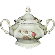 Rosenthal Moss Rose POMPADOUR Pattern Large Sugar Bowl