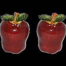 Vintage Apple Salt and Pepper Shakers