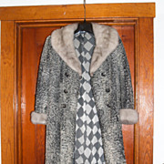 Vintage Silver Fox & Lambswool Jacket Coat Peltz Baltimore Maryland MD Medium 10