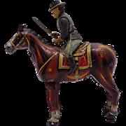 1950s Mikuni Japan Union Soldier On Horse Tin Wind -Up Toy