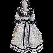 Antique German Flat Top China Head Doll