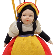 Italian Felt Lenci Friend Cloth Doll Purse Excellent Condition
