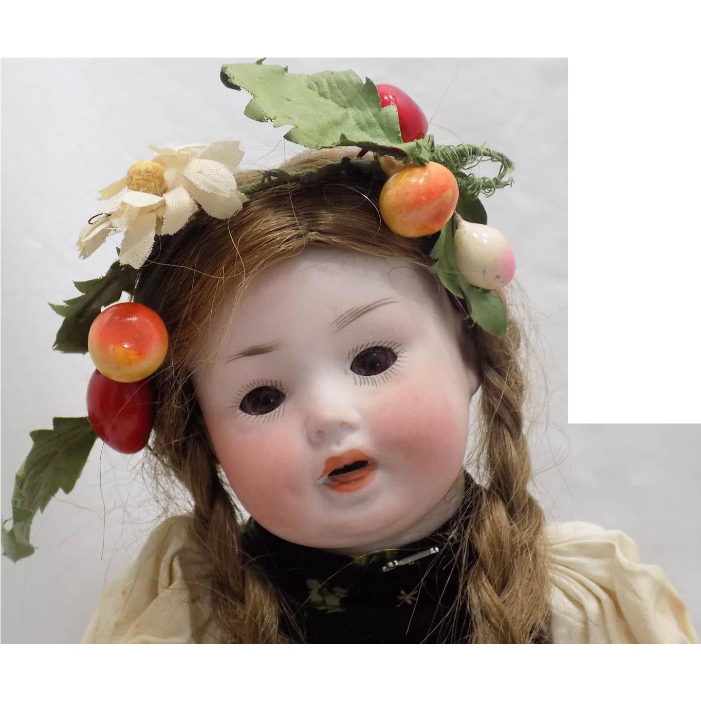 Antique German PM Porzellanfabrik Mengersgereuth Toddler Baby Doll Original Clothes