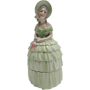 Antique German Porcelain Cigarette Holder Southern Bell Lady Woman Half doll Look