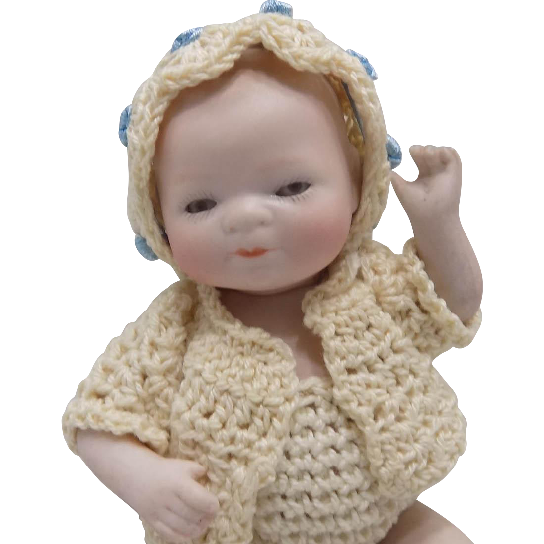 Antique German Grace Putnam Bye-Lo Byelo All Bisque Baby Doll