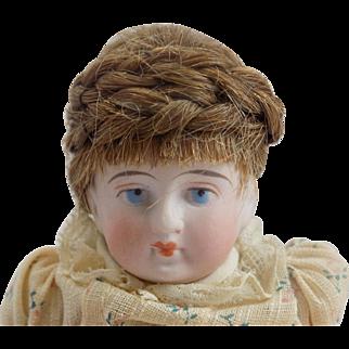 Antique German All Bisque Doll #2120/6 Kling Blue Boots
