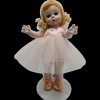 Vintage Madame Alexander-Kins Wendy Doll 1953 Strung BALLERINA