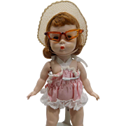 Vintage Madame Alexander Kins 1955 SLW Doll Wendy Loves To Swim #406