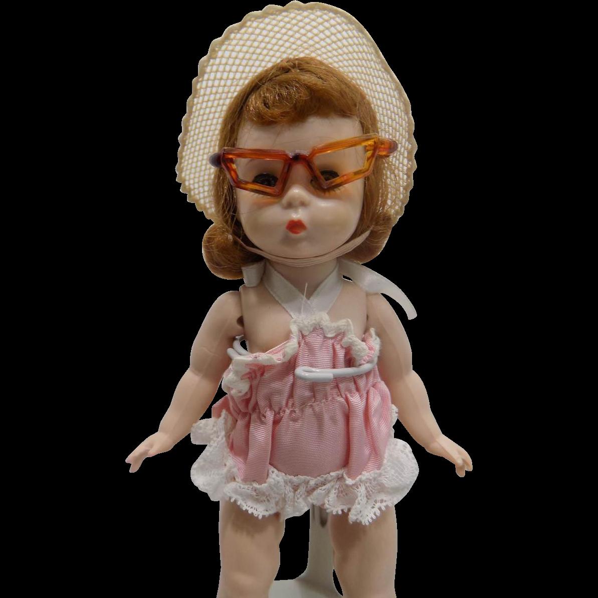 Vintage Madame Alexander Kins 1955 SLW Doll Wendy Loves To Swim #406