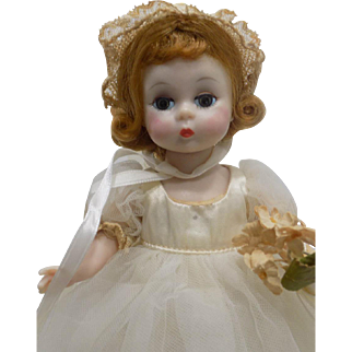 BKW Madame Alexander Alexander-kins Wendy Bride Doll