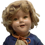 "18"" Ideal Shirley Temple Doll Composition"
