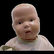 """15"""" Wood Schoenhut Baby Toddler Baby Doll"""