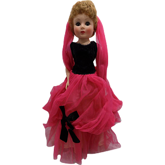 """20"""" Vintage American Character Sweet Sue Sophisticate Toni Doll Gown"""