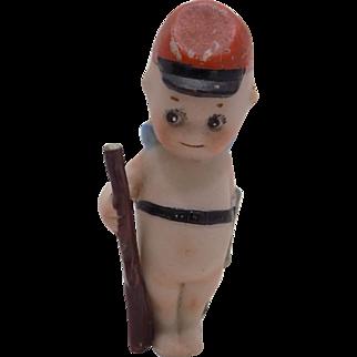 Antique German Rose O'Neill Kewpie Soldier Doll Rifle & Sword