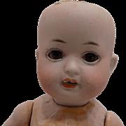 """CUTE Antique German 8.5"""" Bisque Hertel Schwab Doll Toddler to Dress"""