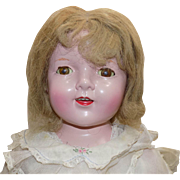 "29"" Composition Mama Girl Doll Shirley Temple Friend All Original"