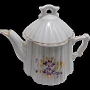 Old Porcelain Ironstone Child's Doll Tea Set Violets
