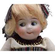 Kestner Antique German All Bisque Googly Doll Original Clothes