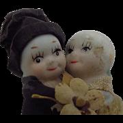 Antique Bisque Kewpie Doll Huggers Bride and Groom Japanese