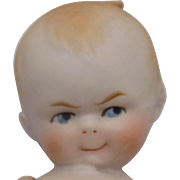 Antique German Kewpie Googly All Bisque Action Baby Doll CUTE!!