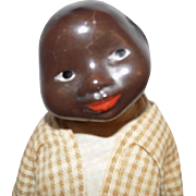 RARE and UNUSUAL Black Brown Composition Character Doll Comic
