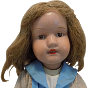 Old Wood Schoenhut Doll Dolly Face