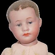 Tiny Antique German Gebruder Heubach Baby Doll to dress Flocked hair