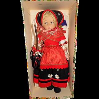 Old Cloth Felt Lenci Doll Series 300 w/ Box