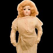 "Antique 21"" Jumeau French Fashion Doll Size 5 to Dress"