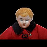 """9.5"""" Antique German Hertwig Doll House DollHouse Man Boy"""