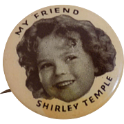 Old Original Vintage Ideal Shirley Temple Doll Pin