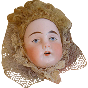 Antique German Doll Pillow Half Face