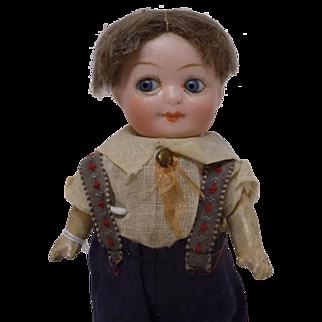 Antique German Herm Steiner Glass Eyed Googly Googlie Doll A,O. CUTE