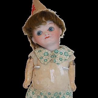 "Antique 7"" German Goebel Googly Doll All Original Clown CUTE"