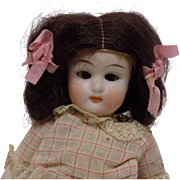Antique German All Bisque Limbach Doll Glass Eyes All Original