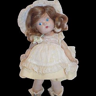 1949 Vogue Strung Painted Eye Ginny Doll #8-1 Debbie All Original Tagged