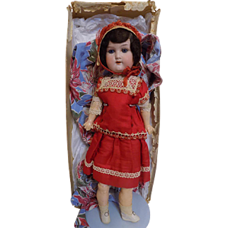 Antique Heubach Kopplesdorf Doll All Original W/Box