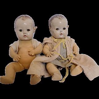 Vintage Effanbee Dy-dee DyDee Baby Doll Pair TLC