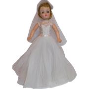 Vintage Madame Alexander Cissy Doll Bride Gown Outfit Heels