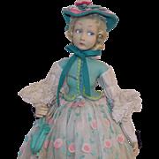 Antique 1933 Felt Lenci Doll Salon Lady Boudoir