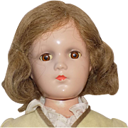"17"" Vintage Arranbee R&B Composition Debuteen Doll All Original"