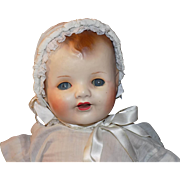 Large Vintage German Composition Baby Dimples Flirty Eyes