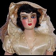 Vintage Composition & Plastic Boudoir Bed Doll All Original